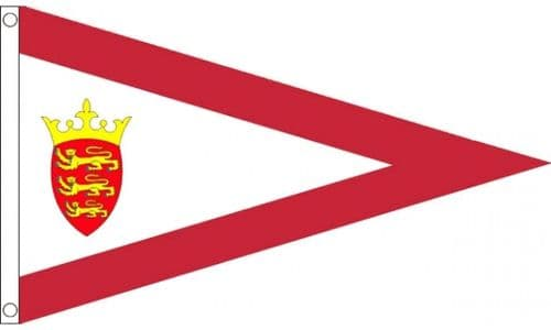 Jersey Triangle Flag 5ft x 3ft Metal Eyelets Double Stitched 75D Polyester Flags